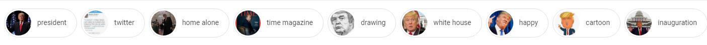 Donald Trump Image Search Labels