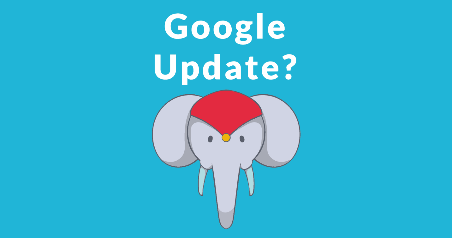 Google Infrastructure Update Right Now?