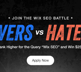 Put Wix SEO to the Test for $25K
