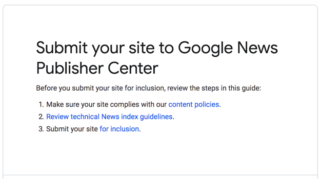 Submit Your Site to Google News Publisher Center