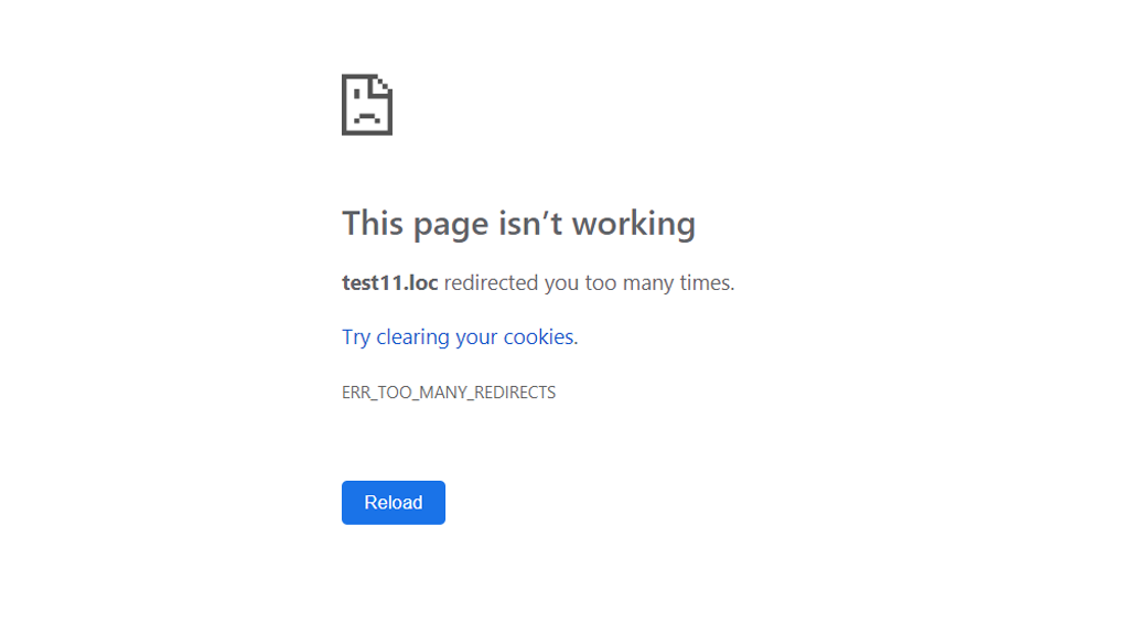 This page isn't working