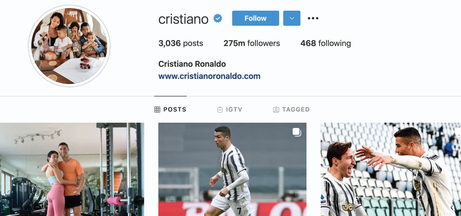 Instagram Statistics and Facts - @Cristiano