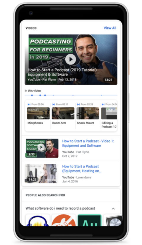 Google Officially Adds Timestamps to Videos in Search Results