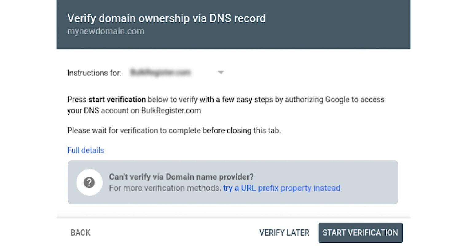 Google Search Console Makes it Easier to Verify Domain Properties