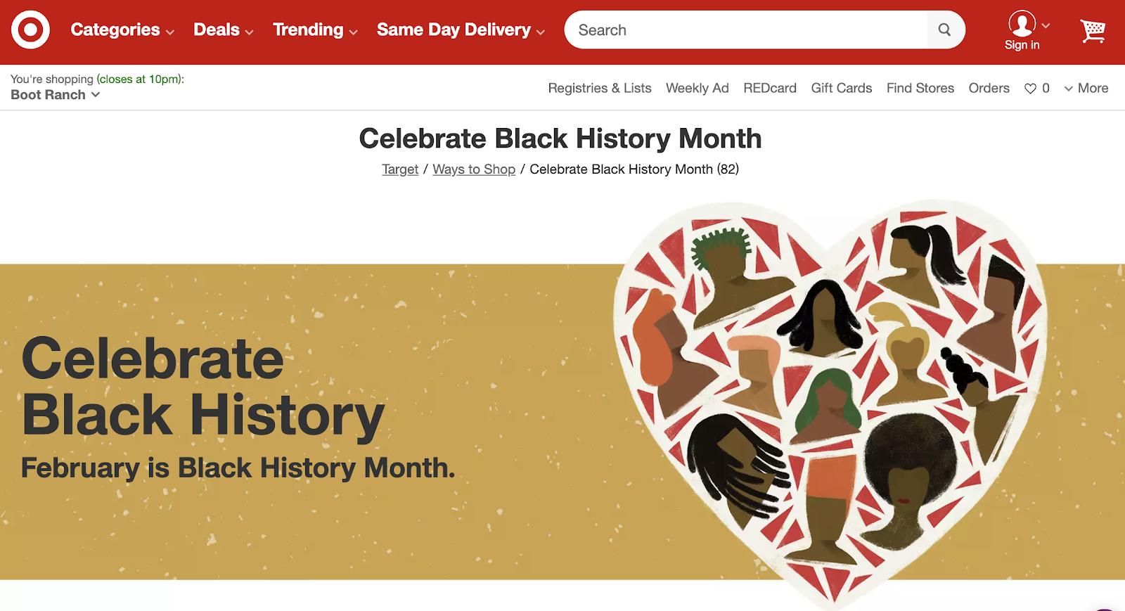 Celebrate Black History Month: Target