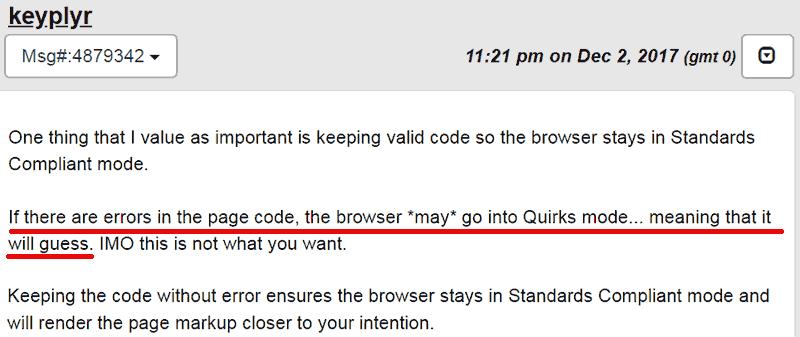 Screenshot of a webmasterworld forum discussion.