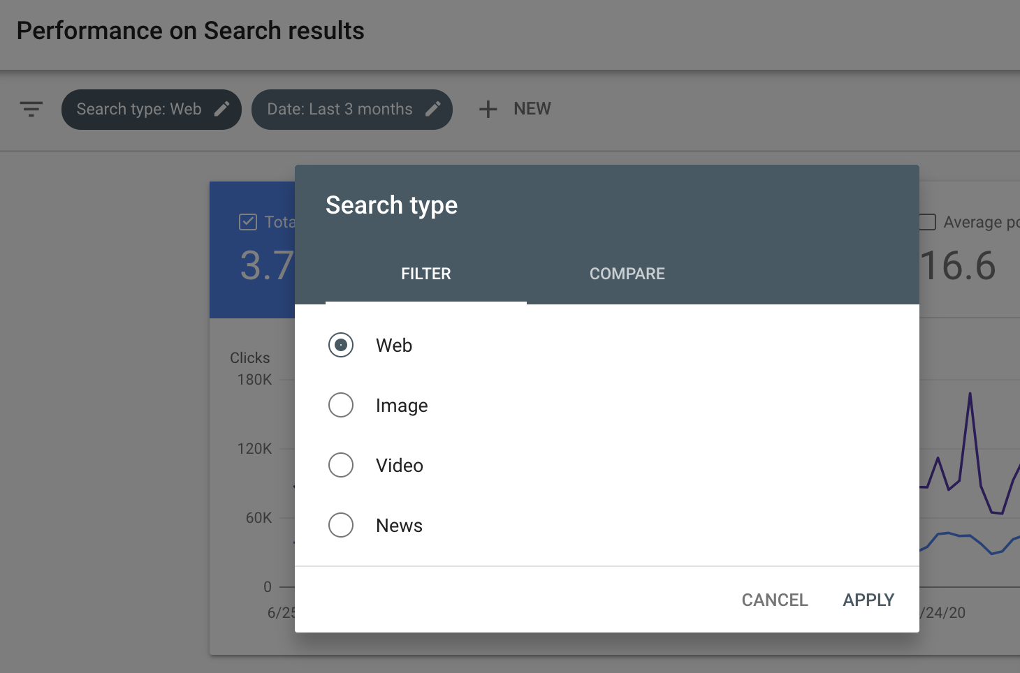 google search console filter news