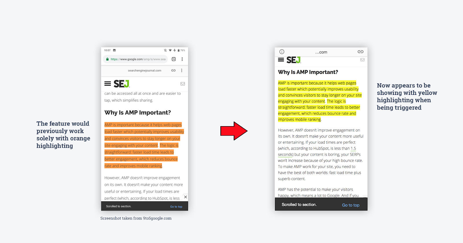 Google Featured Snippet Highlights