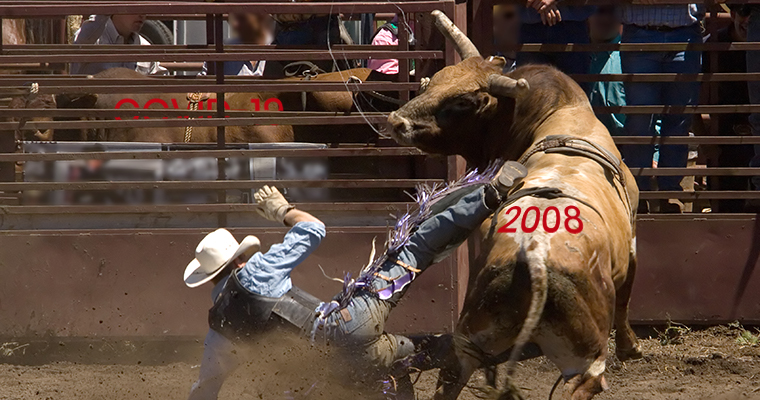 Rodeo with 2008 and COVID-19 Bulls