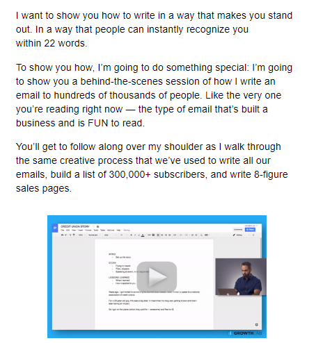content marketing through email