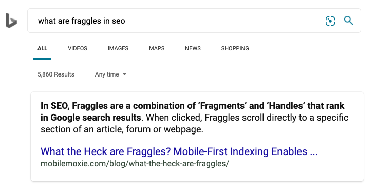 What are Fraggles Search result