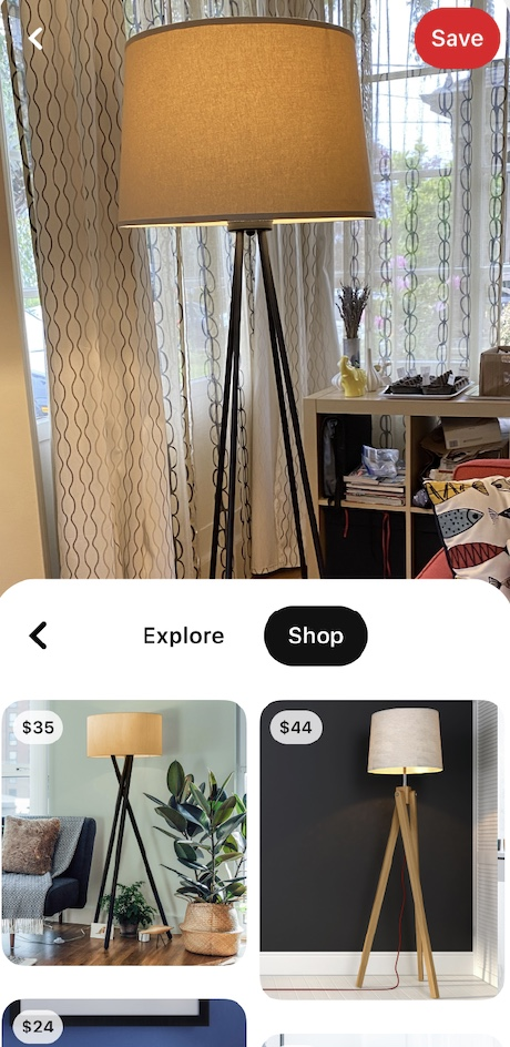 Pinterest Shows Shoppable Pins in Visual Search Results