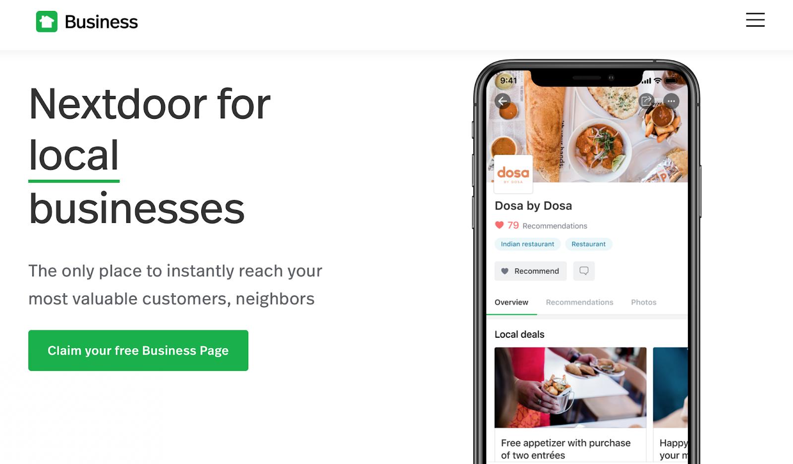 Nextdoor for local businesses