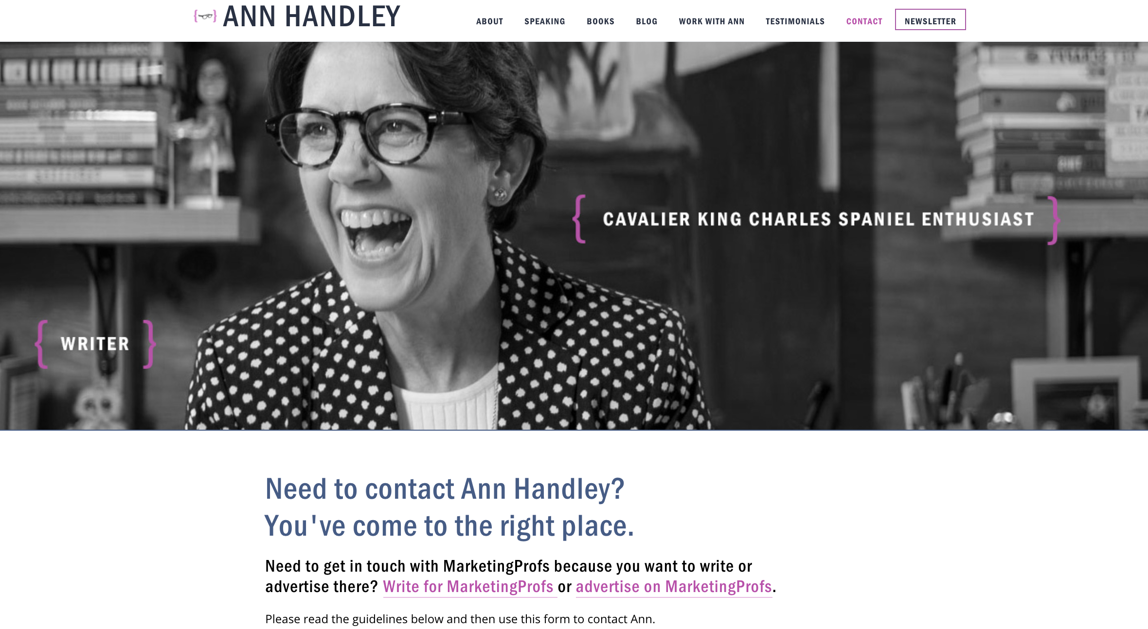 contact us pages ann handley
