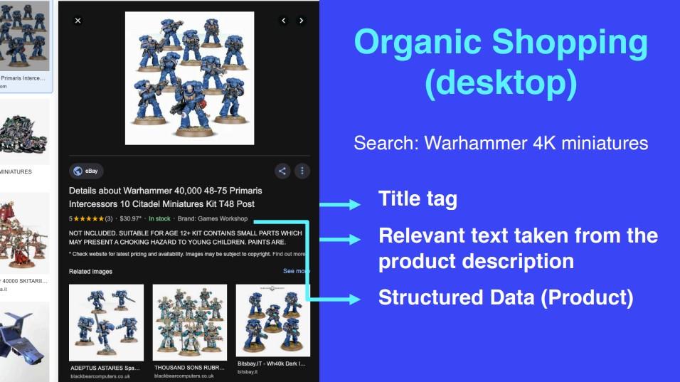 Organic shopping desktop
