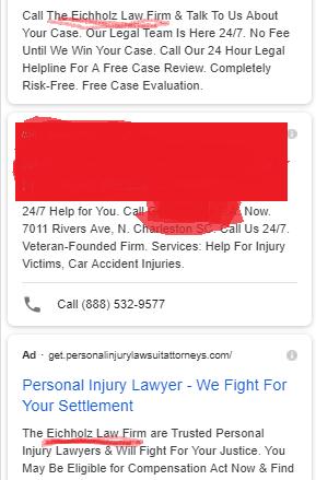 Пример бренда, получившего два места размещения в поисковой выдаче, что является отрицательным
