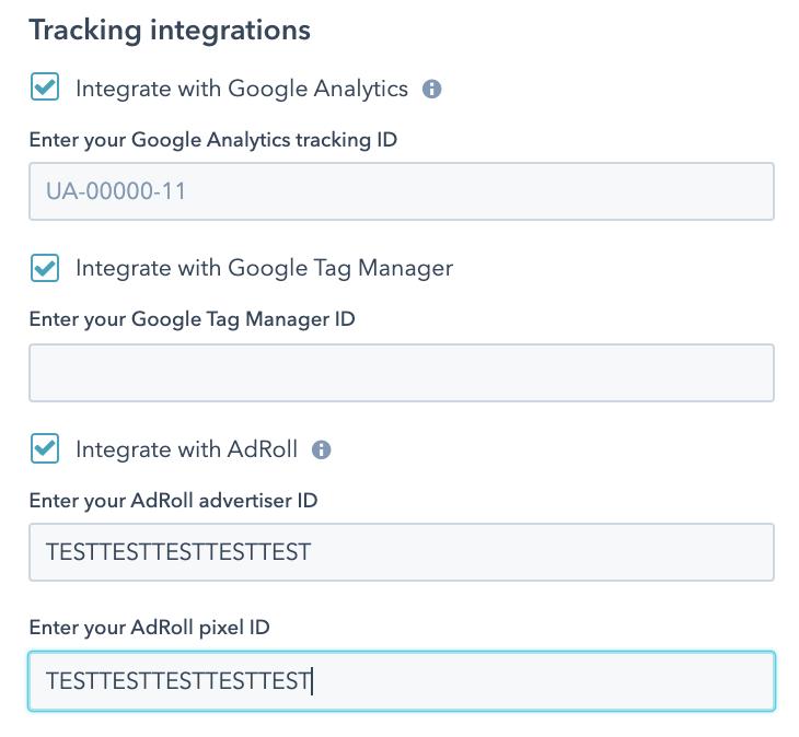 google analytics integration hubspot settings