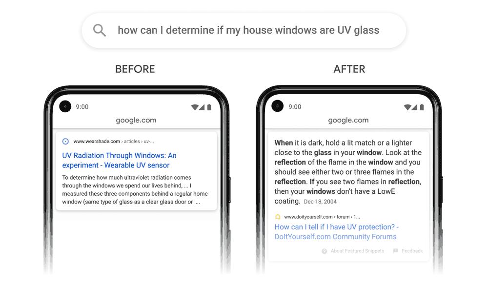 Screenshot showing how Google ranks passages