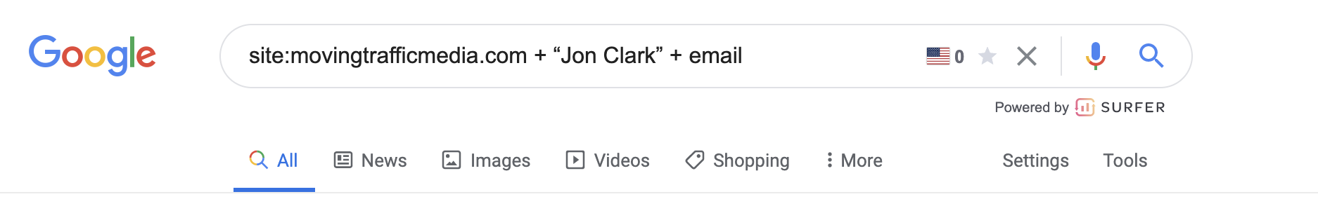Search Operators Email