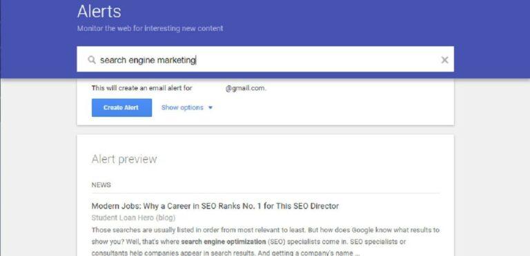 Utilisez les alertes Google pour surveiller votre réputation en ligne