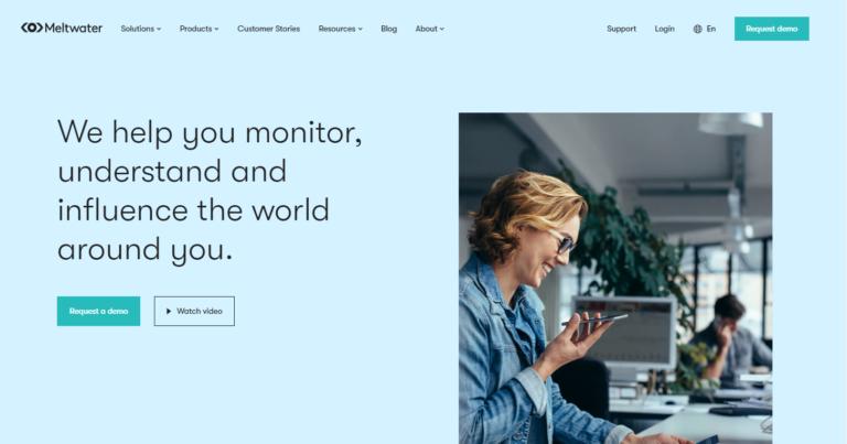 Meltwater est un outil de veille médiatique pour la gestion de la réputation.