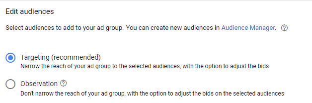 Edit audiences for your ad group in Google Ads to target users in technology.