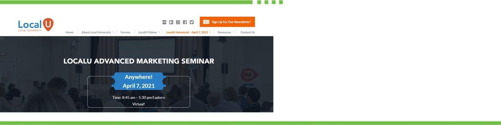 LocalU Advanced Marketing Summit
