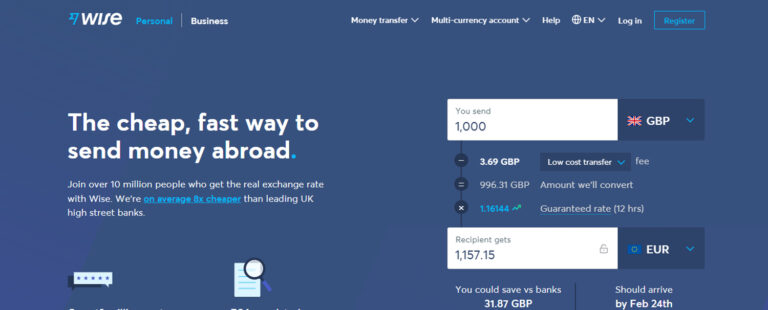 Use Wise as an alternative to PayPal for sending money internationally.