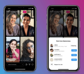 Instagram Lets Up to 4 People Go Live in One Stream