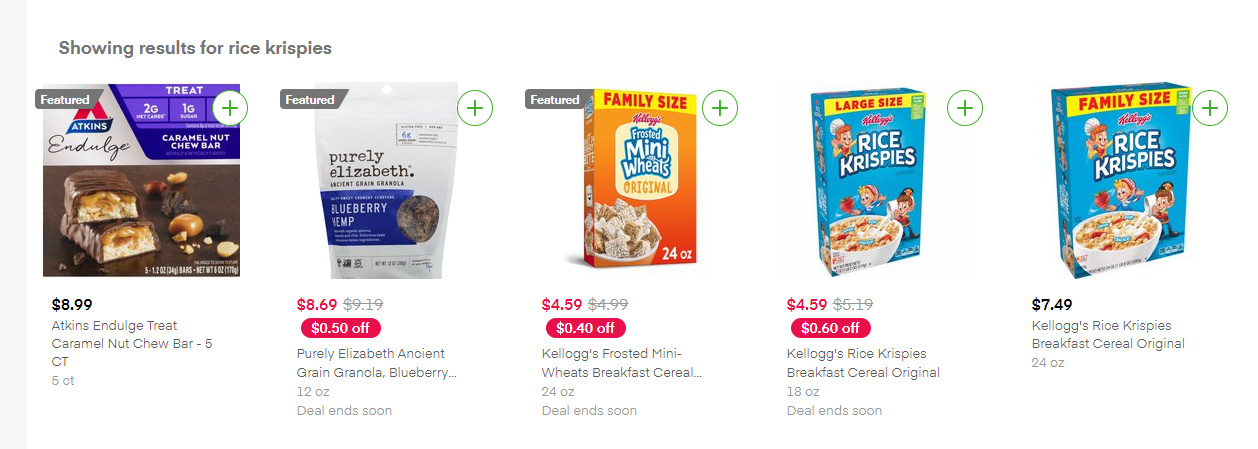 Appear for head and competitor terms in Instacart.