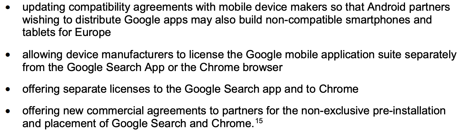 Updates made by Google