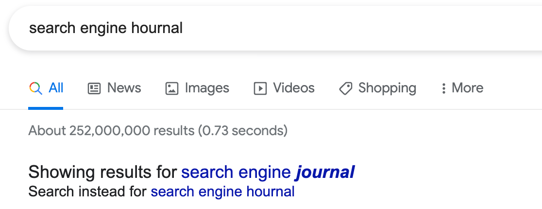 Search Engine Journal misspelling