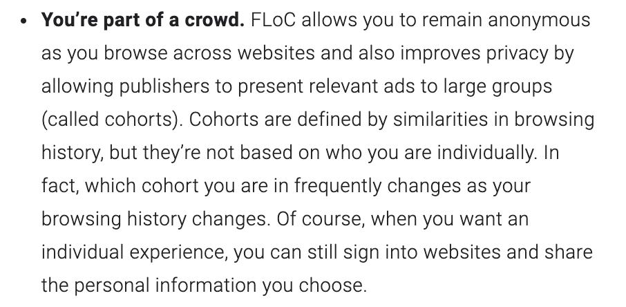 Google talks about FLoC