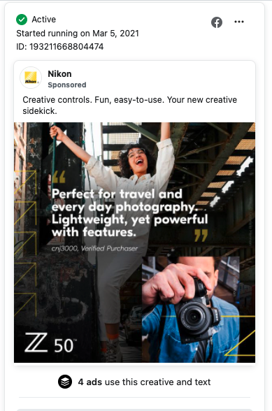 Testimonial Facebook Ad