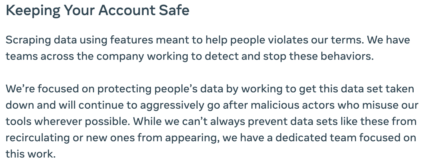 Keeping your Facebook account safe