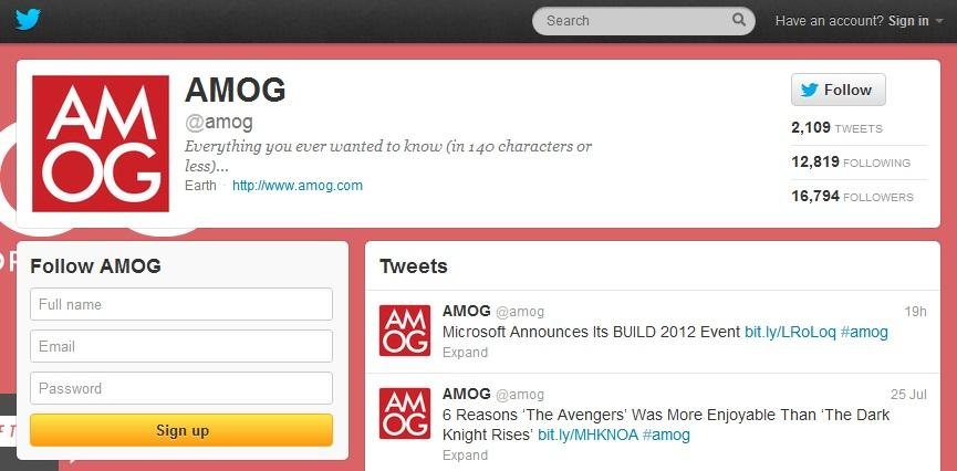Amog Twitter