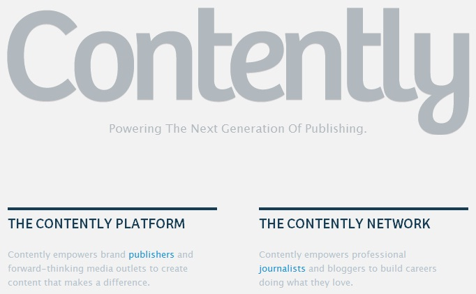 Contently Sign Up Page