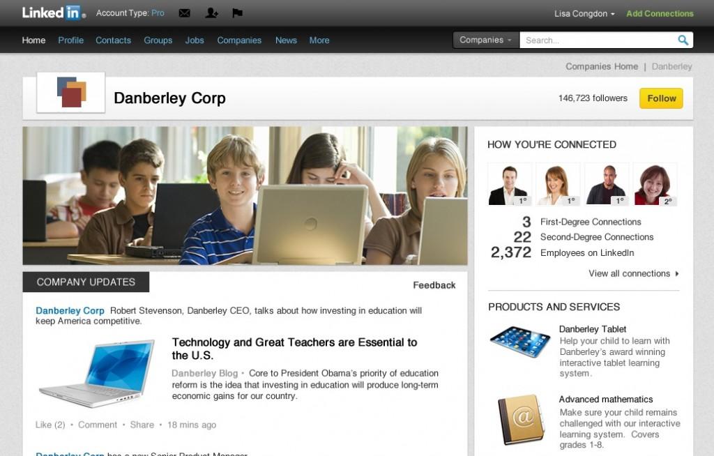 New LinkedIn Company Page