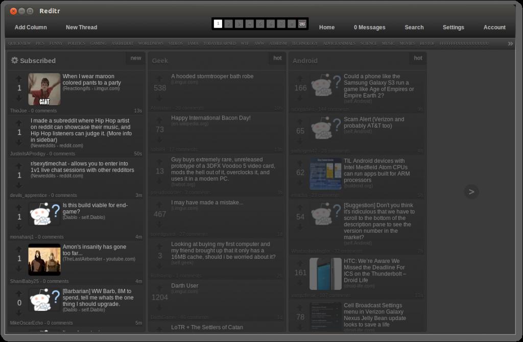 Reditr Column Screenshot