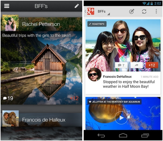 Google+ v3.2 for iOS and Android